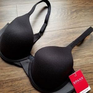 SPANX full coverage black bra NWT 34C